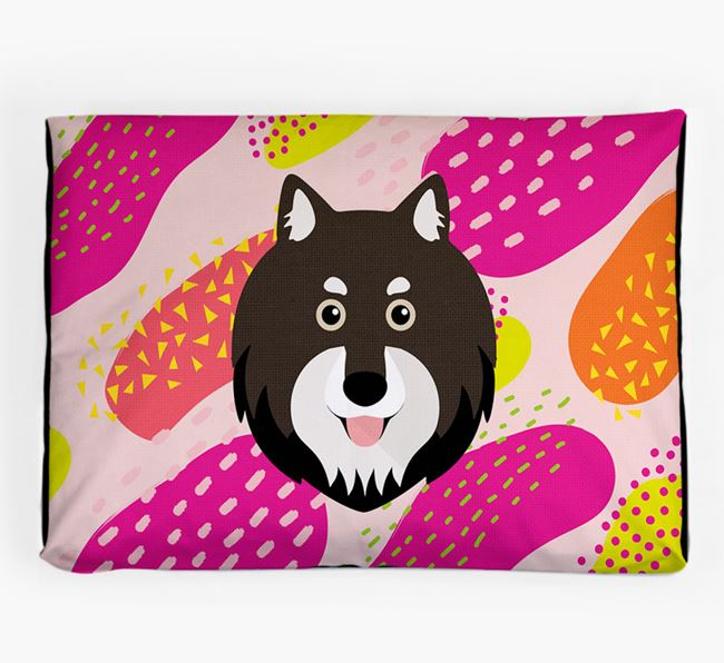 Personalised 'Abstract Design' Dog Bed for your Finnish Lapphund