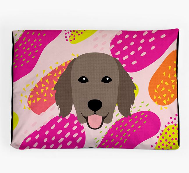 Personalised 'Abstract Design' Dog Bed for your Flat-Coated Retriever