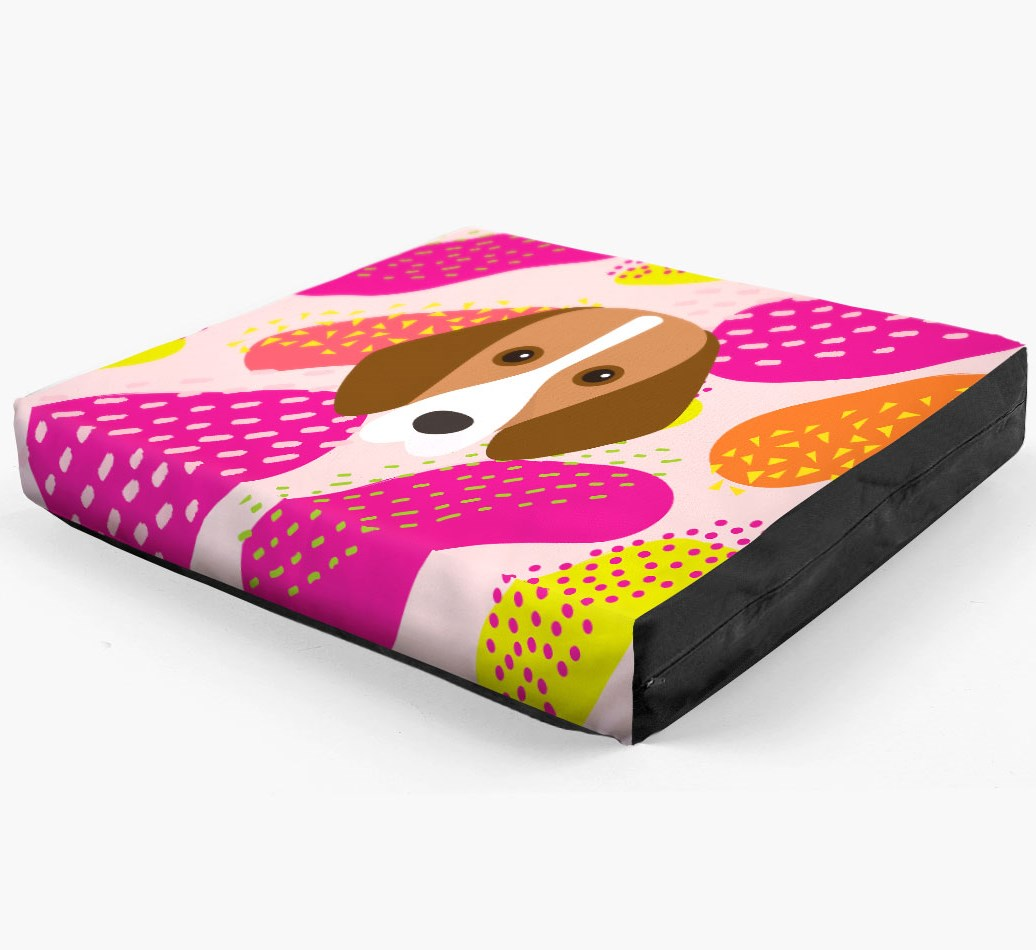 Personalised 'Abstract Design' Dog Bed for your Foxhound
