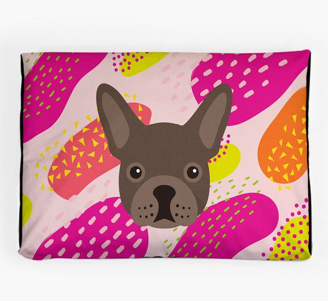 Personalised 'Abstract Design' Dog Bed for your French Bulldog