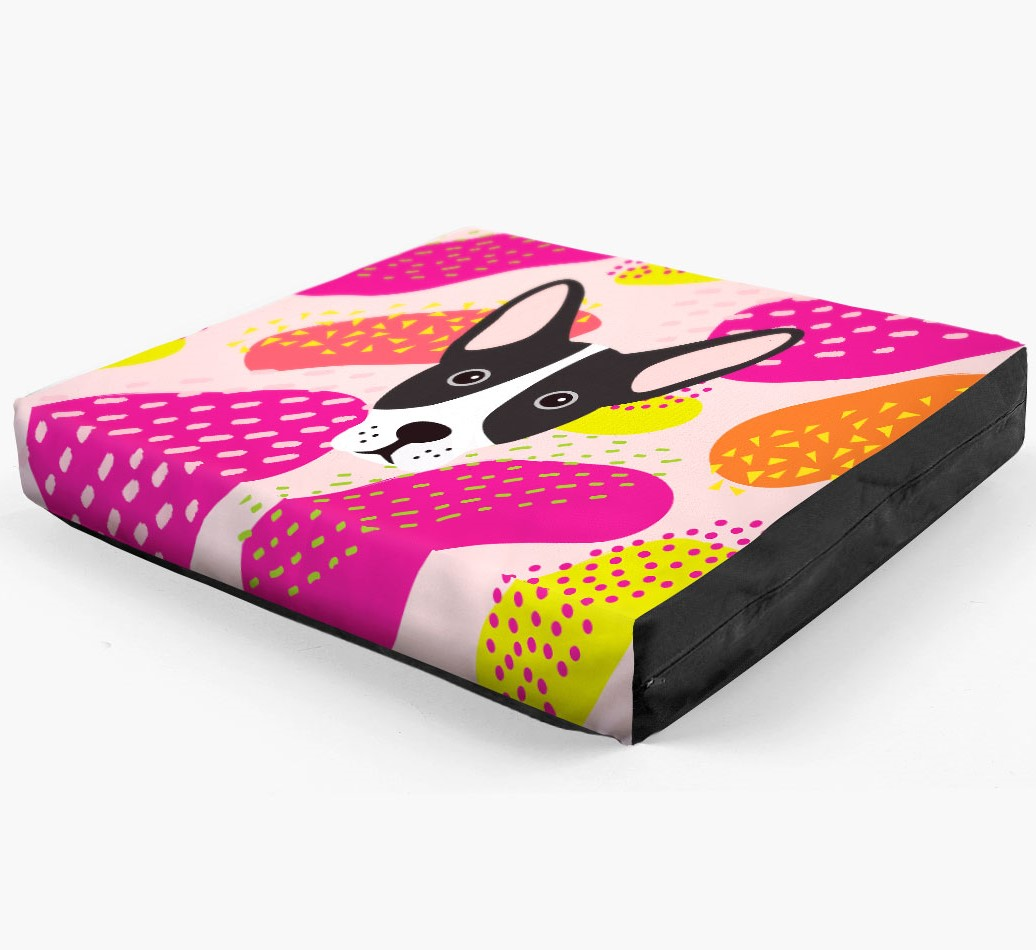 Personalised 'Abstract Design' Dog Bed for your French Bull Jack