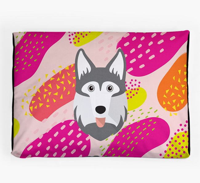 Personalised 'Abstract Design' Dog Bed for your Gerberian Shepsky