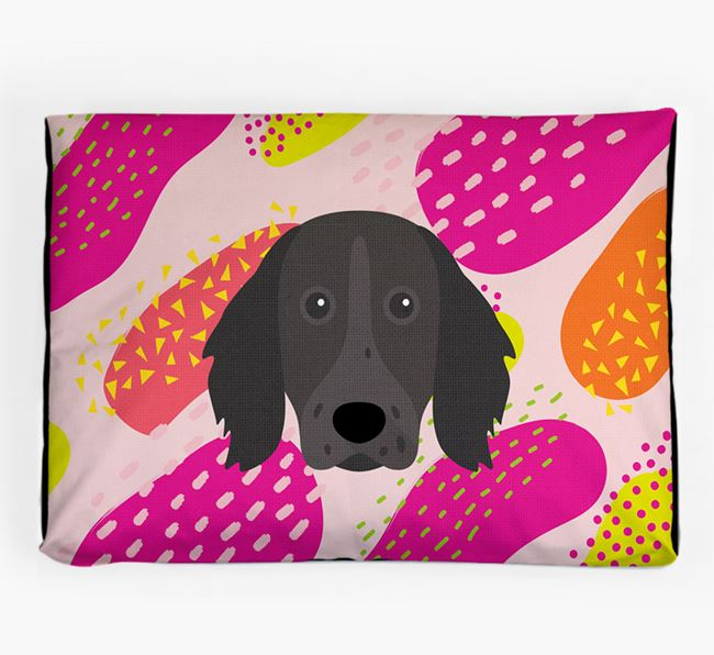 Personalised 'Abstract Design' Dog Bed for your German Longhaired Pointer