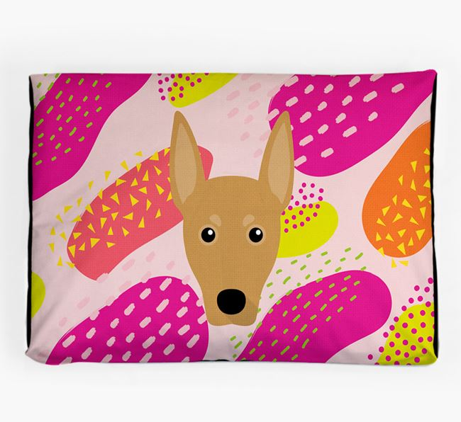 Personalised 'Abstract Design' Dog Bed for your German Pinscher