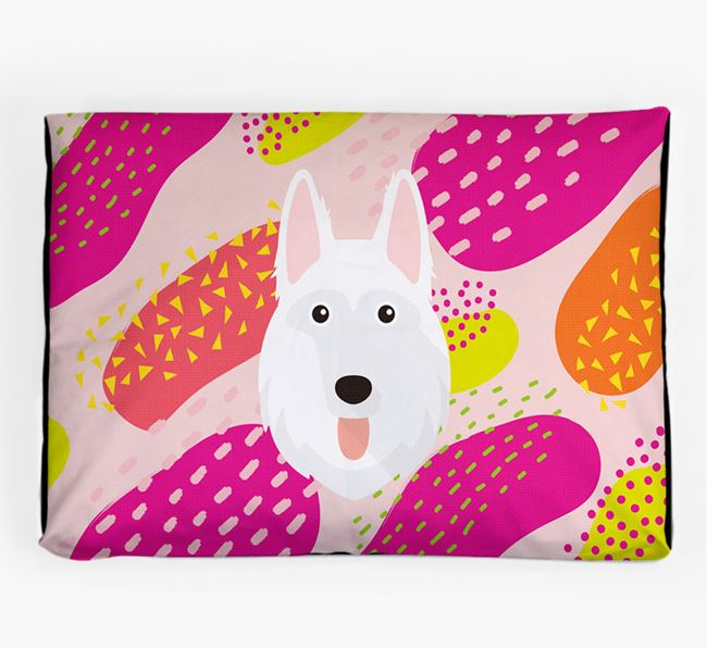 Personalised 'Abstract Design' Dog Bed for your German Shepherd