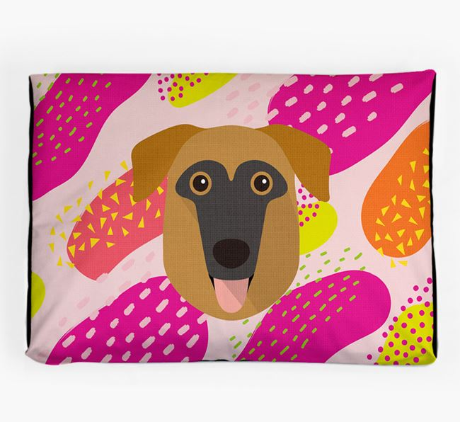 Personalised 'Abstract Design' Dog Bed for your German Sheprador