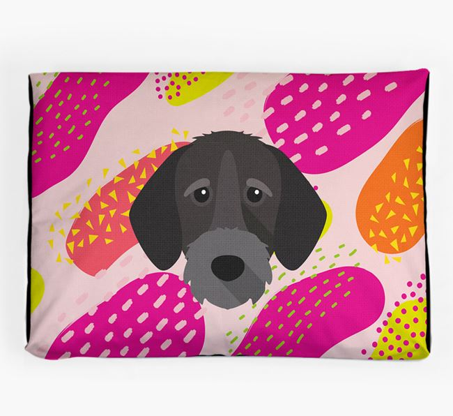 Personalised 'Abstract Design' Dog Bed for your German Wirehaired Pointer