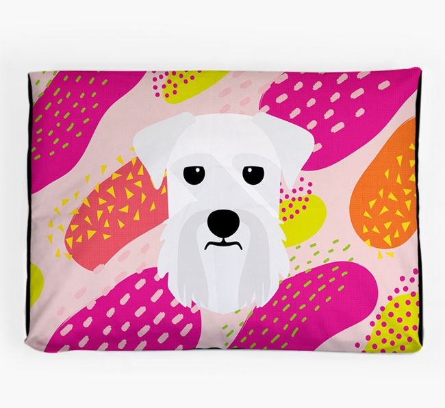 Personalised 'Abstract Design' Dog Bed for your Giant Schnauzer