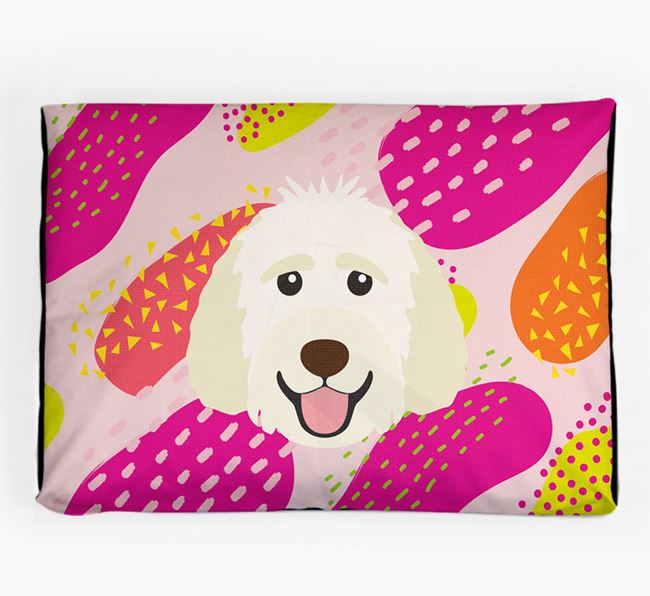 Personalised 'Abstract Design' Dog Bed for your Goldendoodle