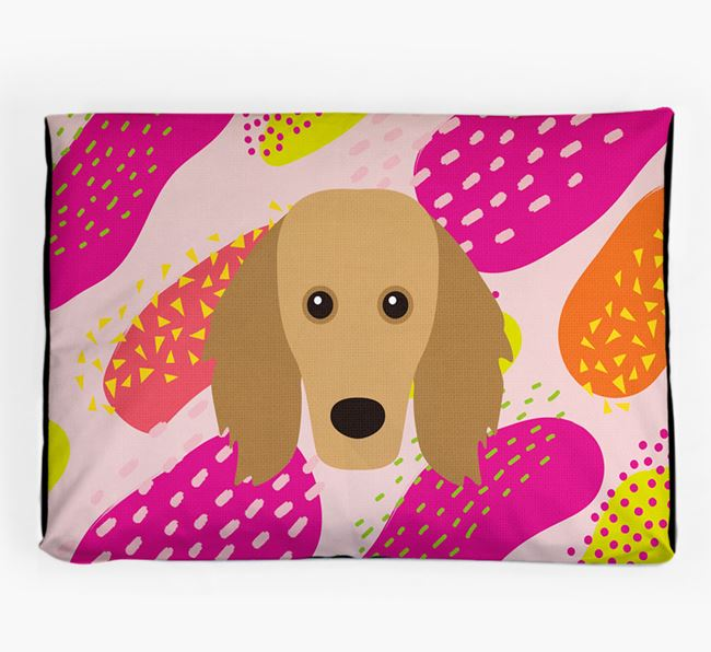 Personalised 'Abstract Design' Dog Bed for your Golden Dox