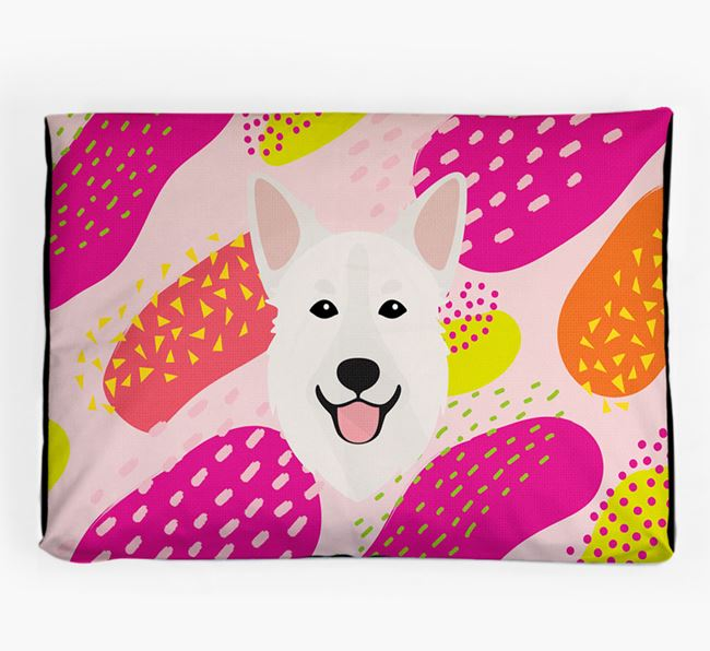 Personalised 'Abstract Design' Dog Bed for your Golden Shepherd