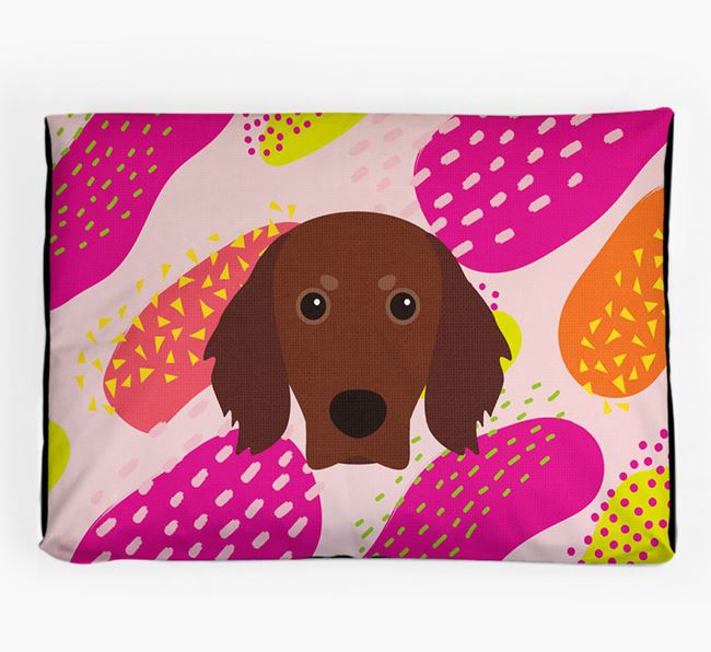 Personalised 'Abstract Design' Dog Bed for your Gordon Setter