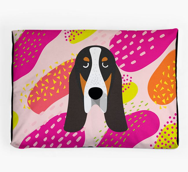 Personalised 'Abstract Design' Dog Bed for your Grand Bleu De Gascogne