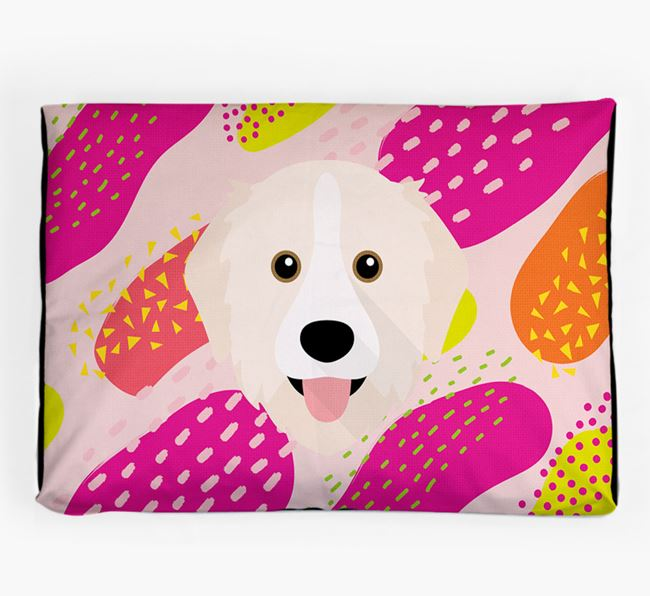 Personalised 'Abstract Design' Dog Bed for your Great Pyrenees