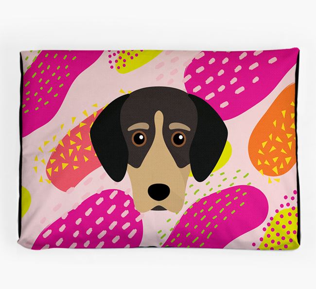 Personalised 'Abstract Design' Dog Bed for your Greek Harehound