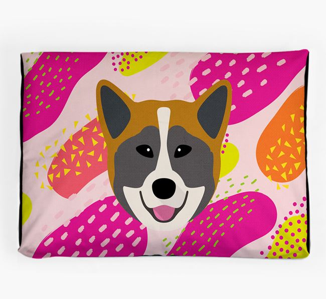 Personalised 'Abstract Design' Dog Bed for your Greenland Dog