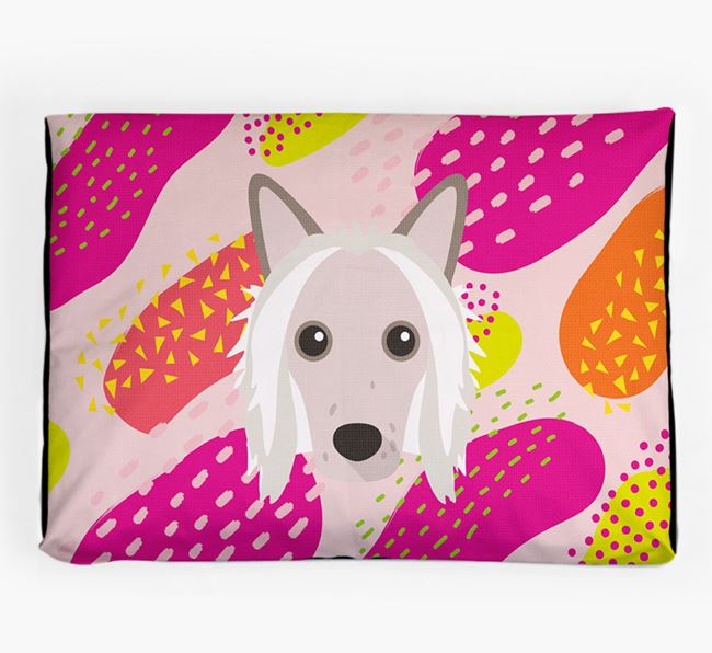 Personalised 'Abstract Design' Dog Bed for your Hairless Chinese Crested