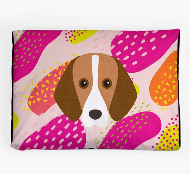 Personalised 'Abstract Design' Dog Bed for your Harrier