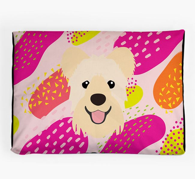 Personalised 'Abstract Design' Dog Bed for your Hungarian Pumi