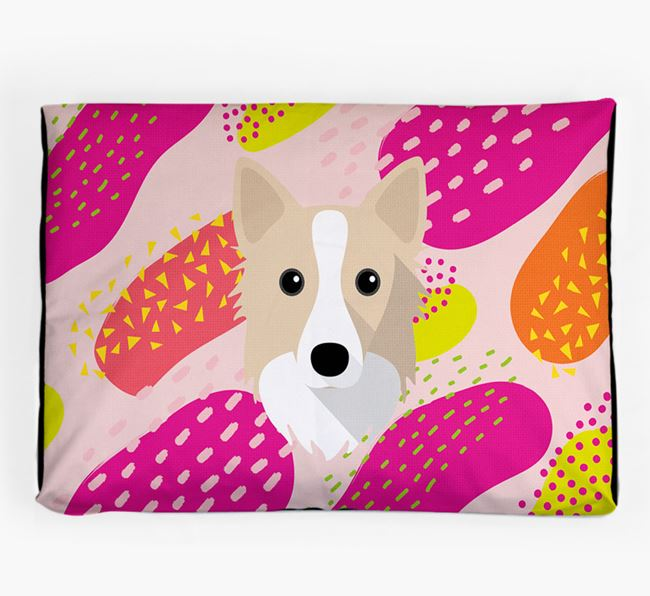 Personalised 'Abstract Design' Dog Bed for your Icelandic Sheepdog