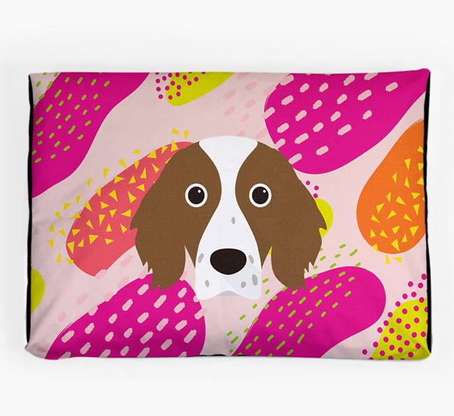 Personalised 'Abstract Design' Dog Bed for your Irish Red & White Setter