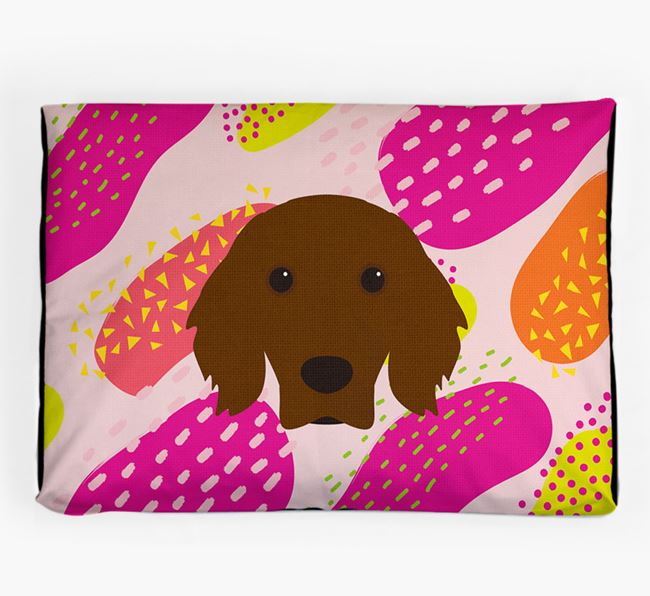 Personalised 'Abstract Design' Dog Bed for your Irish Setter