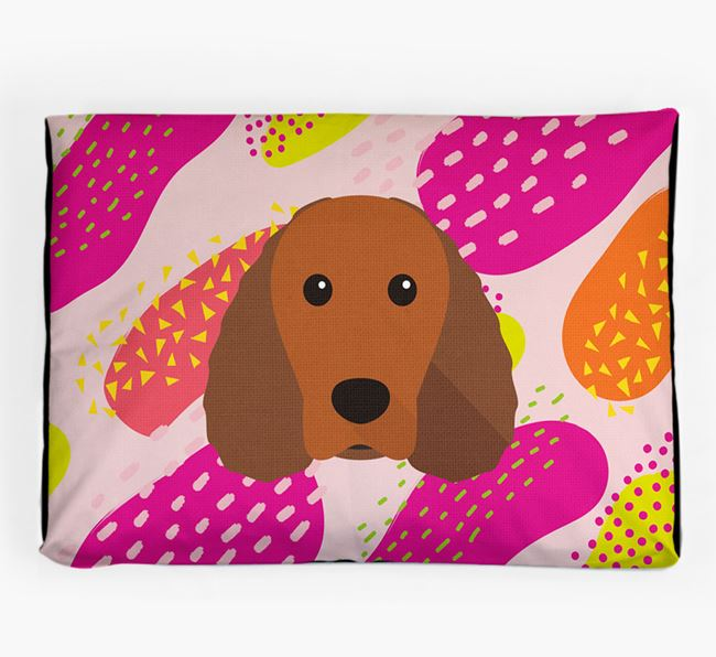 Personalised 'Abstract Design' Dog Bed for your Irish Water Spaniel