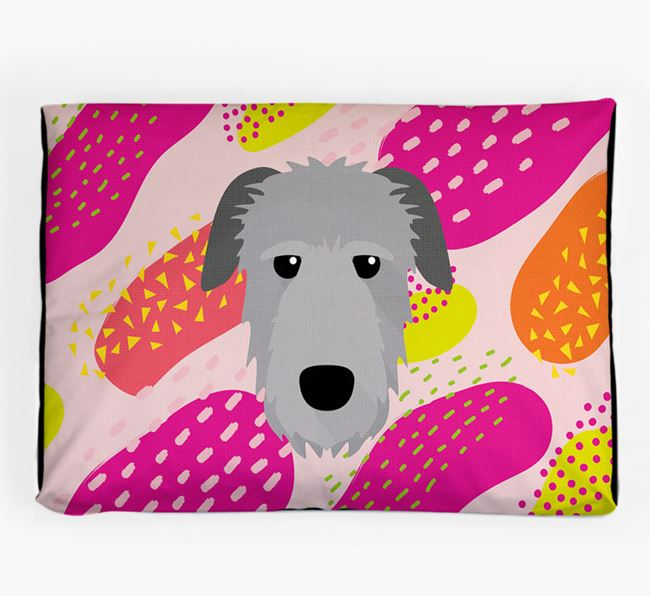 Personalised 'Abstract Design' Dog Bed for your Irish Wolfhound