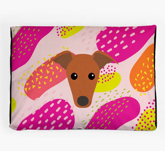 Personalised 'Abstract Design' Dog Bed for your Italian Greyhound