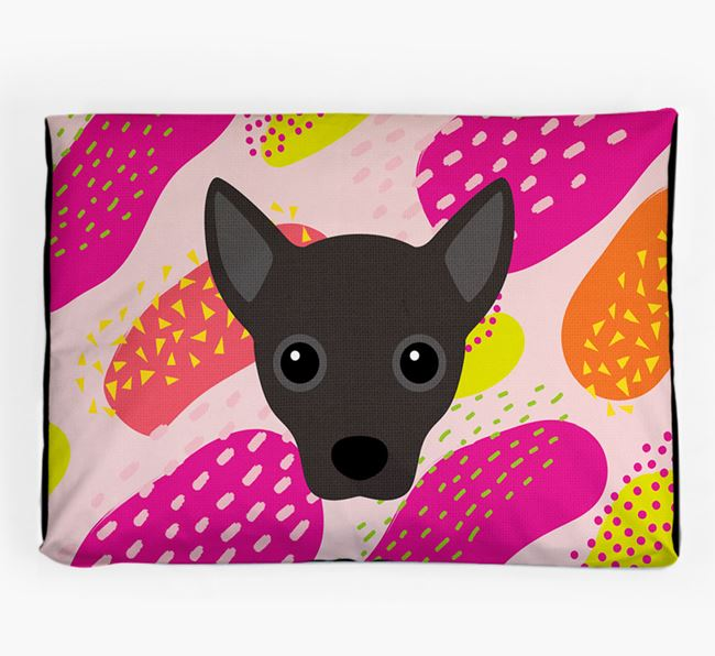 Personalised 'Abstract Design' Dog Bed for your Jackahuahua