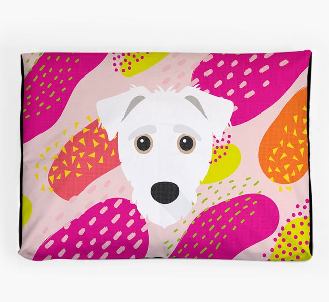 Personalised 'Abstract Design' Dog Bed for your Jack-A-Poo