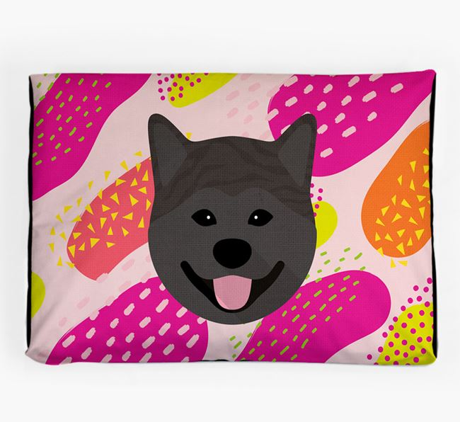 Personalised 'Abstract Design' Dog Bed for your Japanese Akita