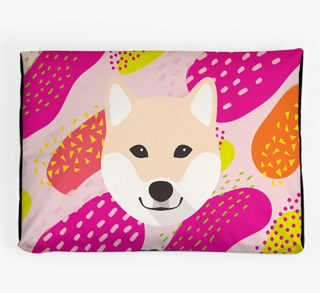Personalised 'Abstract Design' Dog Bed for your Japanese Shiba