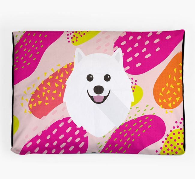 Personalised 'Abstract Design' Dog Bed for your Japanese Spitz