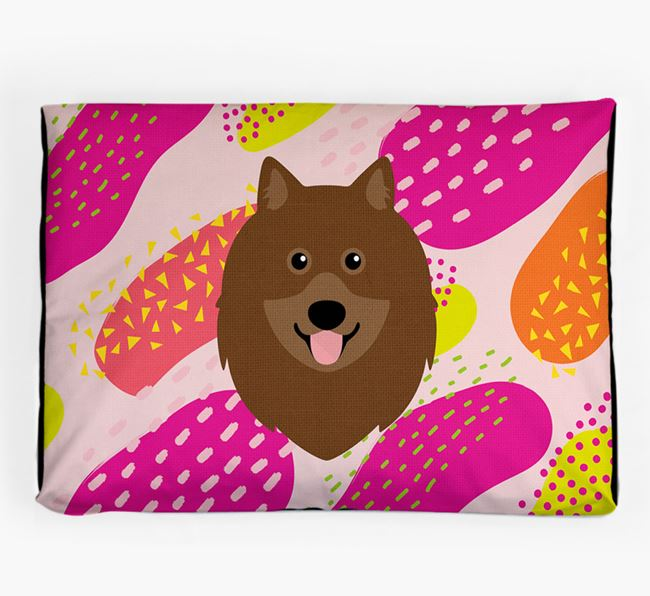 Personalised 'Abstract Design' Dog Bed for your Keeshond
