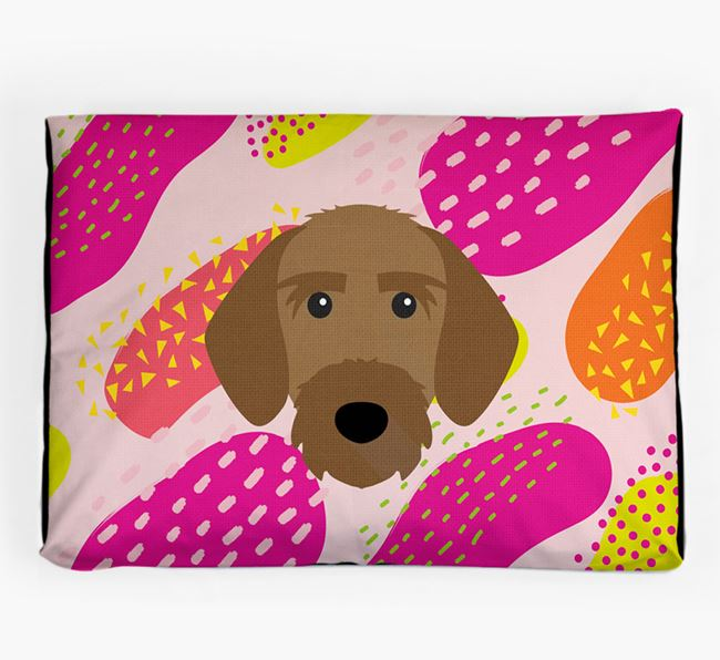 Personalised 'Abstract Design' Dog Bed for your Korthals Griffon