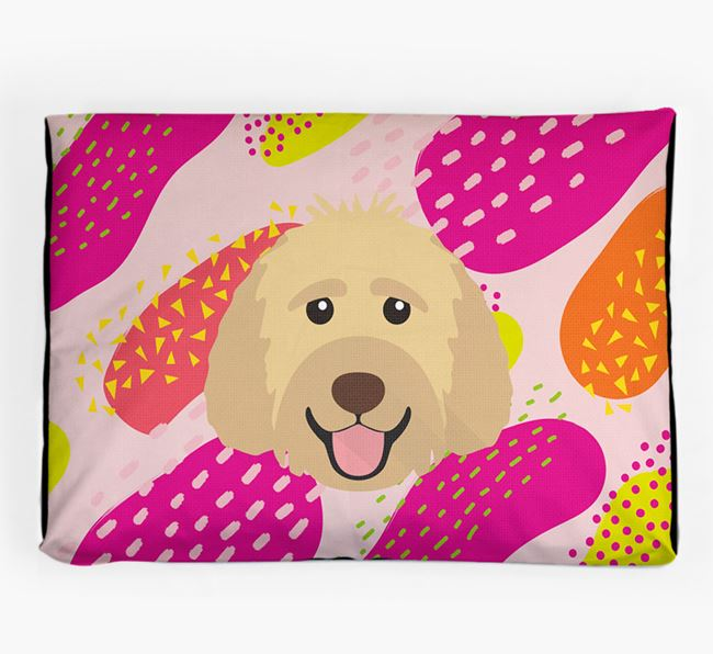 Personalised 'Abstract Design' Dog Bed for your Labradoodle