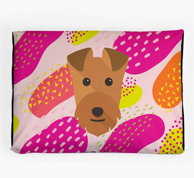 Personalised 'Abstract Design' Dog Bed for your Lakeland Terrier