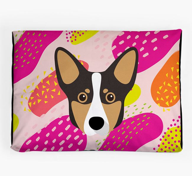 Personalised 'Abstract Design' Dog Bed for your Lancashire Heeler