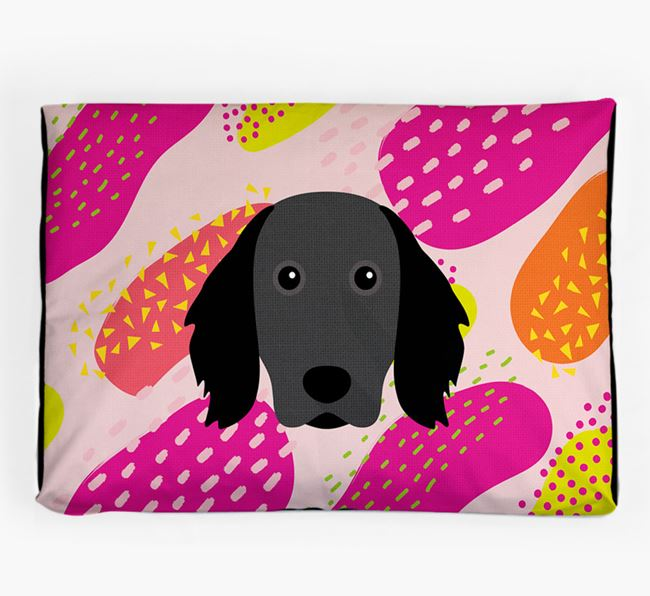 Personalised 'Abstract Design' Dog Bed for your Large Munsterlander