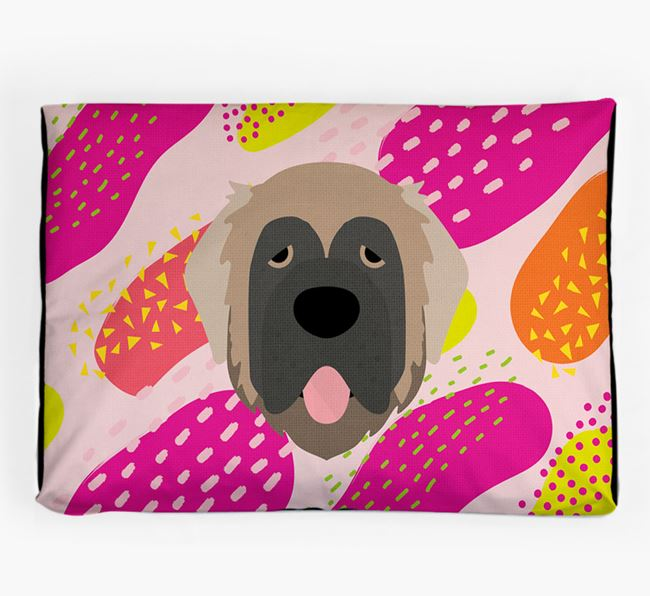 Personalised 'Abstract Design' Dog Bed for your Leonberger