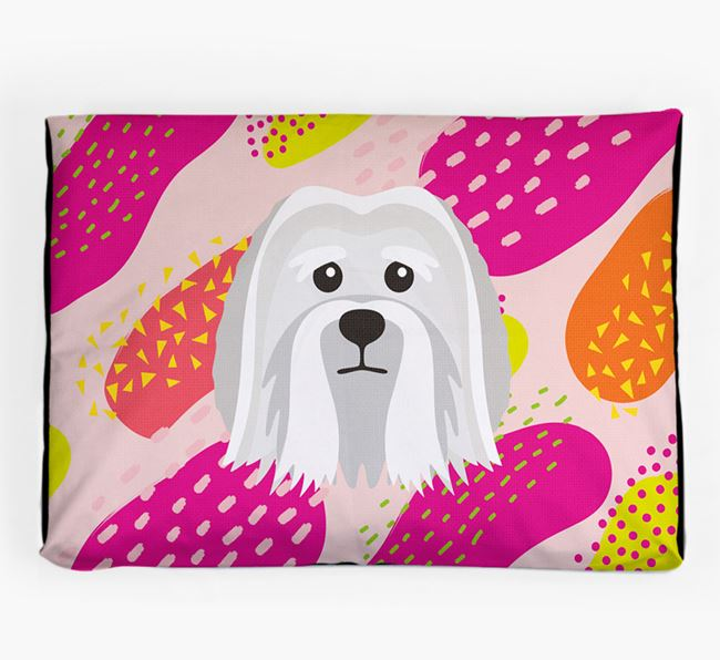Personalised 'Abstract Design' Dog Bed for your Löwchen