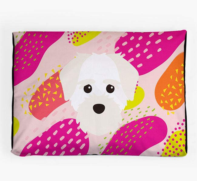 Personalised 'Abstract Design' Dog Bed for your Maltichon