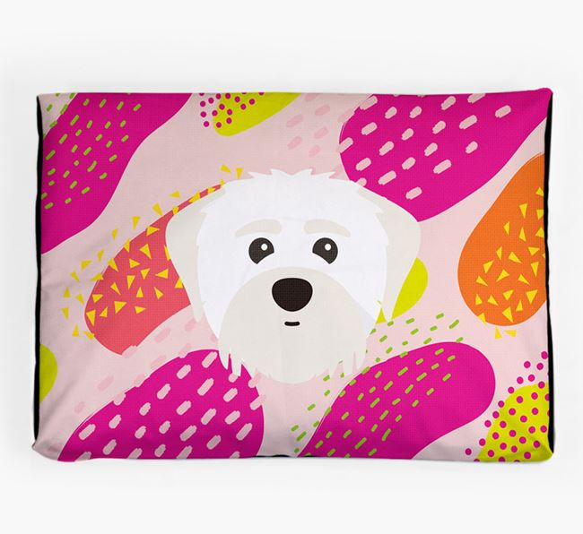 Personalised 'Abstract Design' Dog Bed for your Maltipom