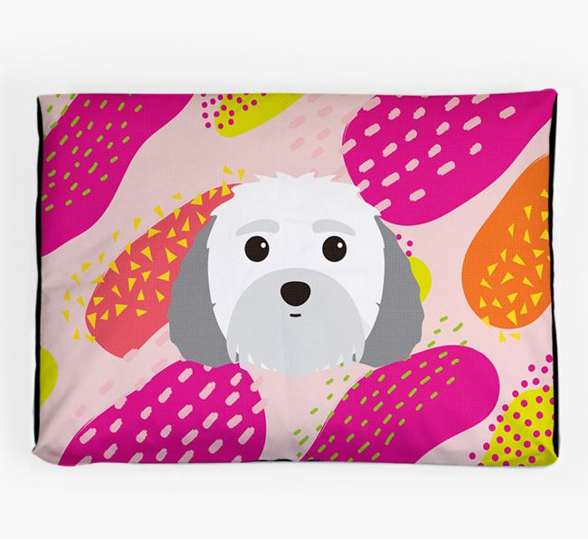 Personalised 'Abstract Design' Dog Bed for your Malti-Poo