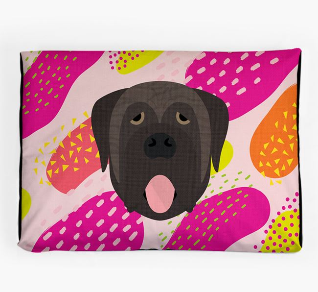 Personalised 'Abstract Design' Dog Bed for your Mastiff