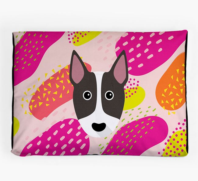 Personalised 'Abstract Design' Dog Bed for your Miniature Bull Terrier