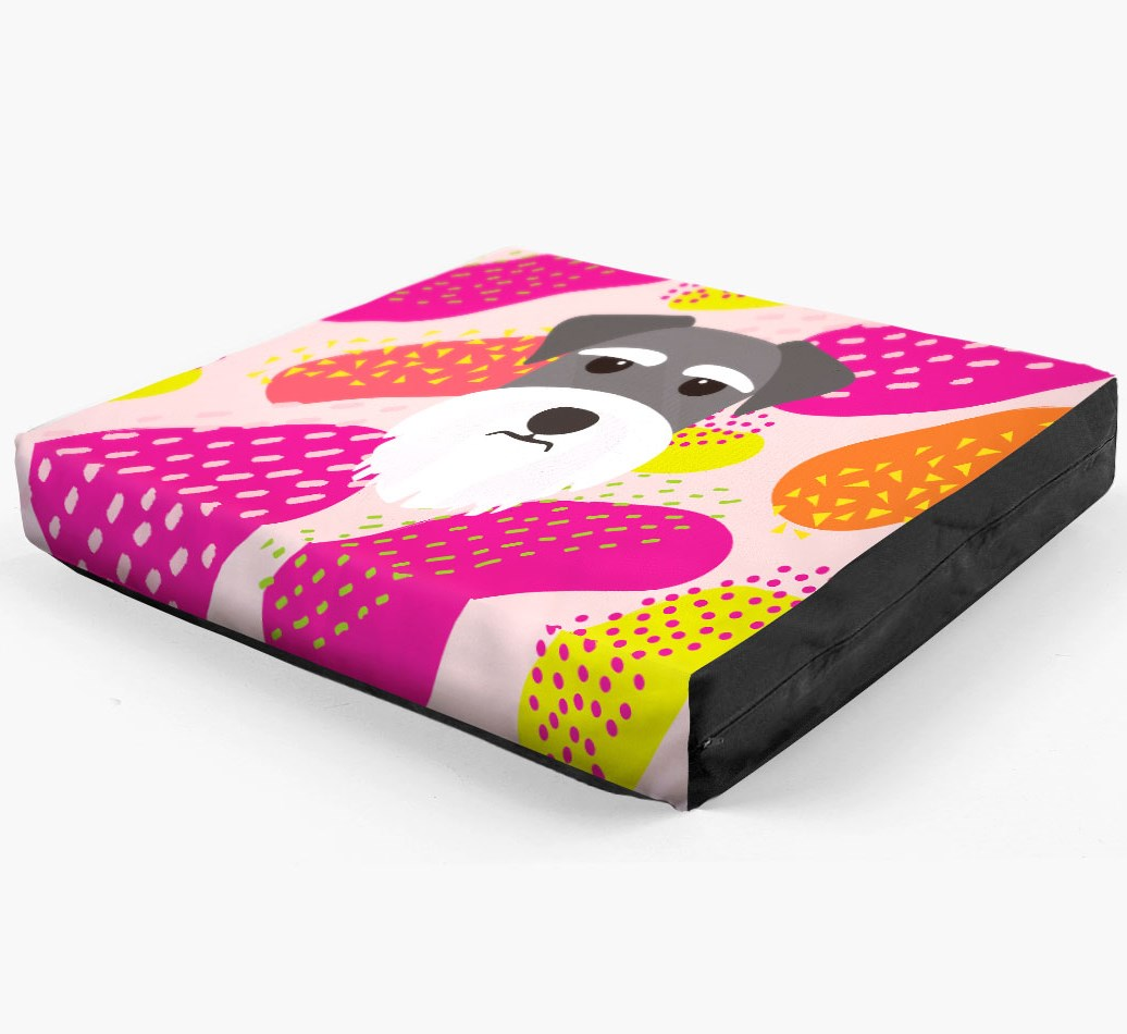 Personalised 'Abstract Design' Dog Bed for your Miniature Schnauzer