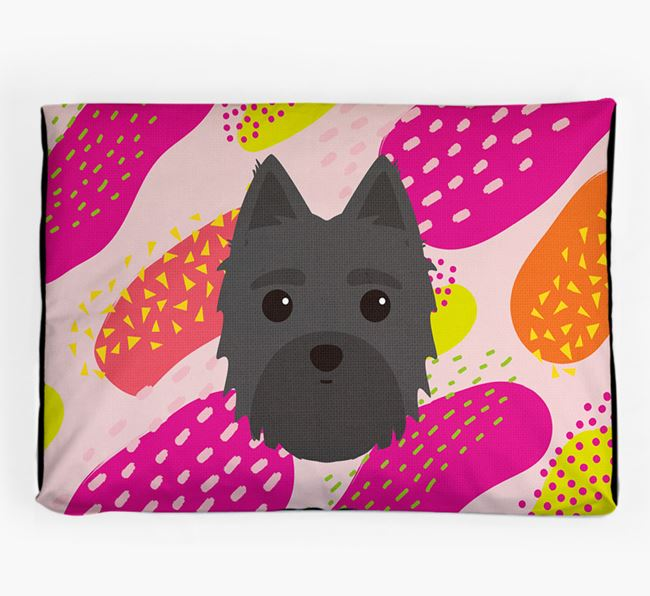 Personalised 'Abstract Design' Dog Bed for your Morkie