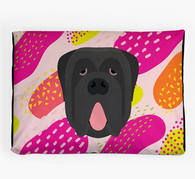 Personalised 'Abstract Design' Dog Bed for your Neapolitan Mastiff